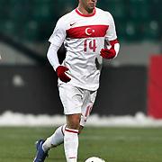 Turkey's Arda Turan during their a international friendly soccer match Turkey betwen Slovakia at Ataturk stadium in Bursa February 29, 2012. Photo by TURKPIX