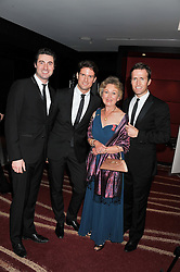 Left to right, OLLIE BAINES, STEPHEN BOWMAN, JENNY GREEN winner of the Robin Gibb Lifetime Achievement Award and HUMPHREY BERNEY at the Soldiering On Awards 2013 held at the Park Plaza Hotel, Westminster Bridge, London SE1 on 23rd March 2013.