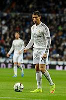 Real Madrid´s Cristiano Ronaldo during 2014-15 La Liga match between Real Madrid and Levante UD at Santiago Bernabeu stadium in Madrid, Spain. March 15, 2015. (ALTERPHOTOS/Luis Fernandez)