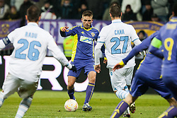 Dejan Mezga #8 of Maribor and Lorik Cana #27 of S.S. Lazio during football match between NK Maribor and S. S. Lazio Roma  (ITA) in 6th Round of Group Stage of UEFA Europa league 2013, on December 6, 2012 in Stadium Ljudski vrt, Maribor, Slovenia. (Photo By Gregor Krajncic / Sportida)