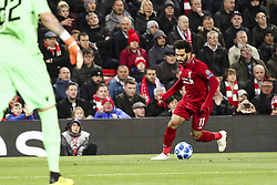 October 24, 2018 - Liverpool, England, United Kingdom - Liverpool forward Mohamed Salah (11) in action during the Uefa Champions League Group Stage football match n.3 LIVERPOOL - CRVENA ZVEZDA on 24/10/2018 at the Anfield Road in Liverpool, England. (Credit Image: © Matteo Bottanelli/NurPhoto via ZUMA Press)