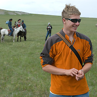 Nick Wiltsie at a naadam festival on a remote pass in Arbulag Sum, near Muren in Hovsgol Aimag, Mongolia.