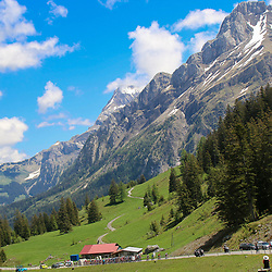LEUKERBAD (SUI) CYCLING<br /> Tour de Suisse stage 5<br /> <br /> Peloton in the Alpes