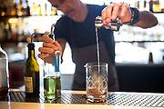 The Lexington House Owner Stephen Shelton prepares a cocktail at The Lexington House in Los Gatos, California, on September 4, 2018. (Stan Olszewski/SOSKIphoto)