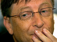 Omaha, Neb 5/7/06 MIcrosoft CEO Bill Gates plays bridge outside the  Borsheims Jewelry  store at the Berkshire Hathaway annual meeting Sunday afternoon..(Chris Machian/Prairie Pixel Group)