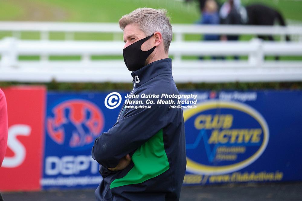 22/10/2020, Racing at Navan<br /> Arkle Bar H´cap 3-y-o plus <br /> Trainer Jack Davison pictured at Navan<br /> Photo: David Mullen / www.quirke.ie ©John Quirke Photography, Proudstown Road Navan. Co. Meath. 046-9079044 / 087-2579454.<br /> FUJIFILM X-T3<br /> ISO: 800; Shutter: 1/1250; Aperture: 2.8;