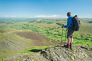 Wide-ranging view from the top of Hall's Fell Ridge