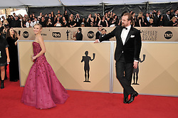 Kristen Bell and David Harbour arrives at the 24th annual Screen Actors Guild Awards at The Shrine Exposition Center on January 21, 2018 in Los Angeles, California. <br /><br />(Photo by Sthanlee Mirador/Sipa USA)