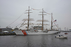 June 17, 2017 - Boston, Massachusetts, U.S - Sail Boston events are taking place all over the city for several days. Coast Guard ship EAGLE at the Boston Navy Yard. (Credit Image: © Kenneth Martin via ZUMA Wire)