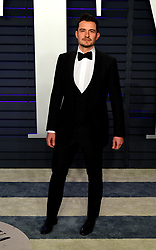 Orlando Bloom attending the Vanity Fair Oscar Party held at the Wallis Annenberg Center for the Performing Arts in Beverly Hills, Los Angeles, California, USA.