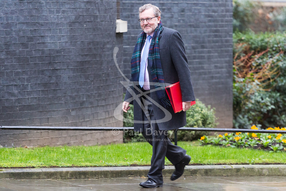London - Scotland Secretary David Mundell attends the weekly meting of the UK cabinet at Downing Street. January 23 2018.