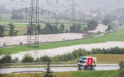 31.07.2014, B165, Hollersbach, AUT, Hochwasser in Oesterreich, Salzburg, im Bild die Situation bei Hollersbach. EXPA Pictures © 2014, PhotoCredit: EXPA/ JFK