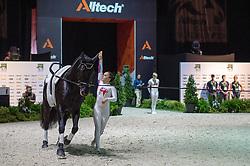 Hannah Eccles, (GBR), WH Bentley, John Eccles - Individuals Women Compulsory Vaulting - Alltech FEI World Equestrian Games™ 2014 - Normandy, France.<br /> © Hippo Foto Team - Jon Stroud<br /> 02/09/2014