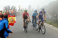 Simon Yates (GBR, Mitchelton Scott), Enric Mas (ESP, QuickStep Floors) and Nairo Quintana (COL, Movistar) during the 73th Edition of the 2018 Tour of Spain, Vuelta Espana 2018, Stage 15 cycling race, 15th stage Ribera de Arriba - Lagos de Covadonga 178,2 km on September 9, 2018 in Spain - Photo Luis Angel Gomez/ BettiniPhoto / ProSportsImages / DPPI