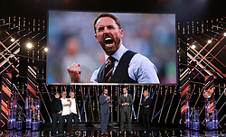 Gareth Southgate revives his award for Coach of the Year during the BBC Sports Personality of the Year 2018 at Birmingham Genting Arena.