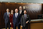 SHOT 1/8/19 12:12:02 PM - Bachus & Schanker LLC lawyers James Olsen, Maaren Johnson, J. Kyle Bachus, Darin Schanker and Andrew Quisenberry in their downtown Denver, Co. offices. The law firm specializes in car accidents, personal injury cases, consumer rights, class action suits and much more. (Photo by Marc Piscotty / © 2018)