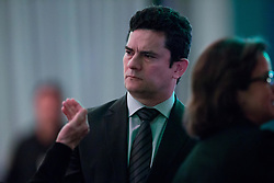 August 15, 2017 - Sao Paulo, Sao Paulo, Brazil - Brazilian federal judge SERGIO MORO attends a meeting with lawyers and jurists to discuss the Brazilian justice system, in Sao Paulo, Brazil. Moro is responsible for Car Wash Operation (Money Laundering) (Credit Image: © Paulo Lopes via ZUMA Wire)