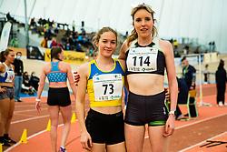 Lea Haler with Ingrid Zeleznik during Slovenian Indoor Championship, Olympic centre Novo Mesto, 13 February 2021, Novo Mesto, Slovenia. Photo by Grega Valancic / Sportida