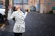 .Photographers Brandon Thibodeaux, Ariel Zambelich visit Albuquerque, the Frontier Restaurant in the snow on a road trip from Texas to California.