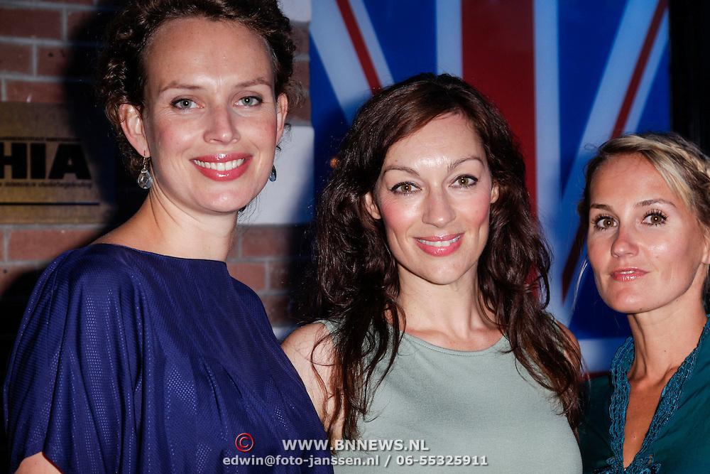 NLD/Amsterdam/20120905- Opening Thimothy Oulton shop Amsterdam, Kim Pieters, Miryanne van Reeden en Peggy Vrijens