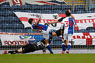 2-2, goal scored by Joseph Rankin-Costello of Blackburn Rovers during the EFL Cup match between Blackburn Rovers and Doncaster Rovers at Ewood Park, Blackburn, England on 29 August 2020.