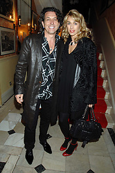 STEPHEN & ASSIA WEBSTER at the engagement party of Vanessa Neumann and William Cash held at 16 Westbourne Terrace, London W2 on 15th April 2008.<br /><br />NON EXCLUSIVE - WORLD RIGHTS