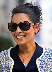 © Licensed to London News Pictures. 24/09/2018. London, UK.  Conservative MP PRITI PATELarrives for an Alternative Brexit event, held by the IEA (Institute of Economic Affairs) in central London. Photo credit: Ben Cawthra/LNP