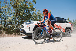 Lea Lin Teutenberg (GER) at Strade Bianche - Elite Women 2020, a 136 km road race starting and finishing in Siena, Italy on August 1, 2020. Photo by Sean Robinson/velofocus.com