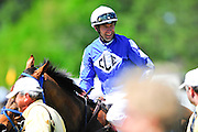 April 7, 2012 - Jacob Roberts and DURER win the Stoneybrook Chase hurdle race at Stoneybrook Steeplechase, Raeford NC