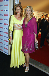 Left to right, TRINNY WOODALL and TANIA BRYER at the 2006 Glamour Women of the Year Awards 2006 held in Berkeley Square Gardens, London W1 on 6th June 2006.<br />