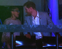 Prince Harry, Meghan Markle and Meghan's Mother Doria Radlan attend The Invictus Games 2017 Closing Ceremony at the Air Canada Centre, Toronto, Ontario, Canada, on the 30th September 2017. 30 Sep 2017 Pictured: Doria Radlan, Prince Harry. Photo credit: James Whatling / MEGA TheMegaAgency.com +1 888 505 6342