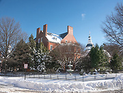 Governor's Mansion in Annapolis, Maryland after snowstorm