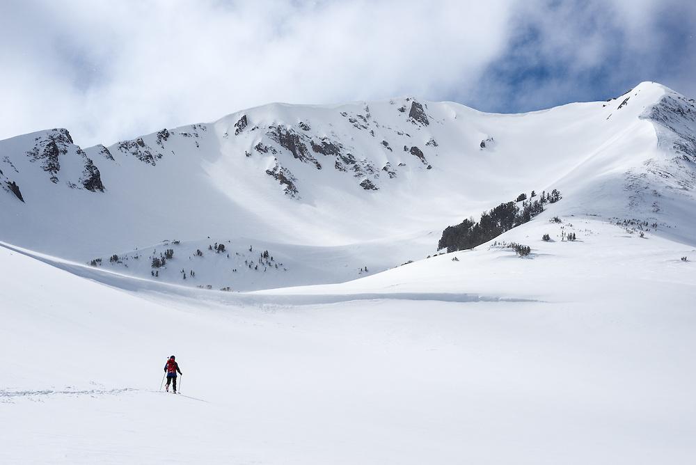 Backcountry skiing in Oregon's Wallowa Mountains.