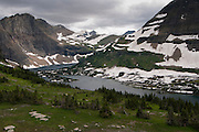 View of Hidden Lake from the HIdden Lake Pass, Glacier National Park, Montana, US; August 2011