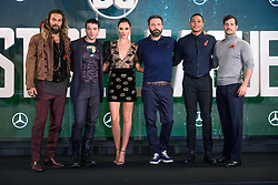 (l-r) Jason Momoa, Ezra Miller, Gal Cadot, Ben Affleck, Ray Fisher and Henry Cavill attending the Justice League photocall, at The College, Southampton Row, London. PRESS ASSOCIATION Photo. Picture date: Saturday November 4th, 2017. Photo credit should read: Matt Crossick/PA Wire.