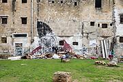 Palermo, Kalsa neighborhood, kids playing in Piazza Magione
