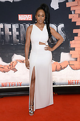 Simone Missick attends the 'Marvel's The Defenders' New York Premiere at Tribeca Performing Arts Center in New York, NY, on on July 31, 2017. (Photo by Anthony Behar) *** Please Use Credit from Credit Field ***