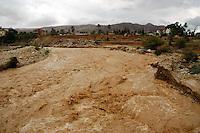Wadi Kelt - View West - April 2, 2006. Enhanced. Photo by Ferrell Jenkins.