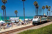 Metrolink Passing Through San Clemente California