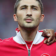 Turkey's Sabri SARIOGLU during their UEFA EURO 2012 Qualifying round Group A matchday 19 soccer match Turkey betwen Germany at TT Arena in Istanbul October 7, 2011. Photo by TURKPIX
