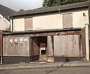 Closed shop in Blaenavon World Heritage town, Torfaen, Monmouthshire, South Wales, UK