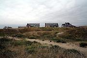 Pirou-Plage seaside ghost town behind the dune