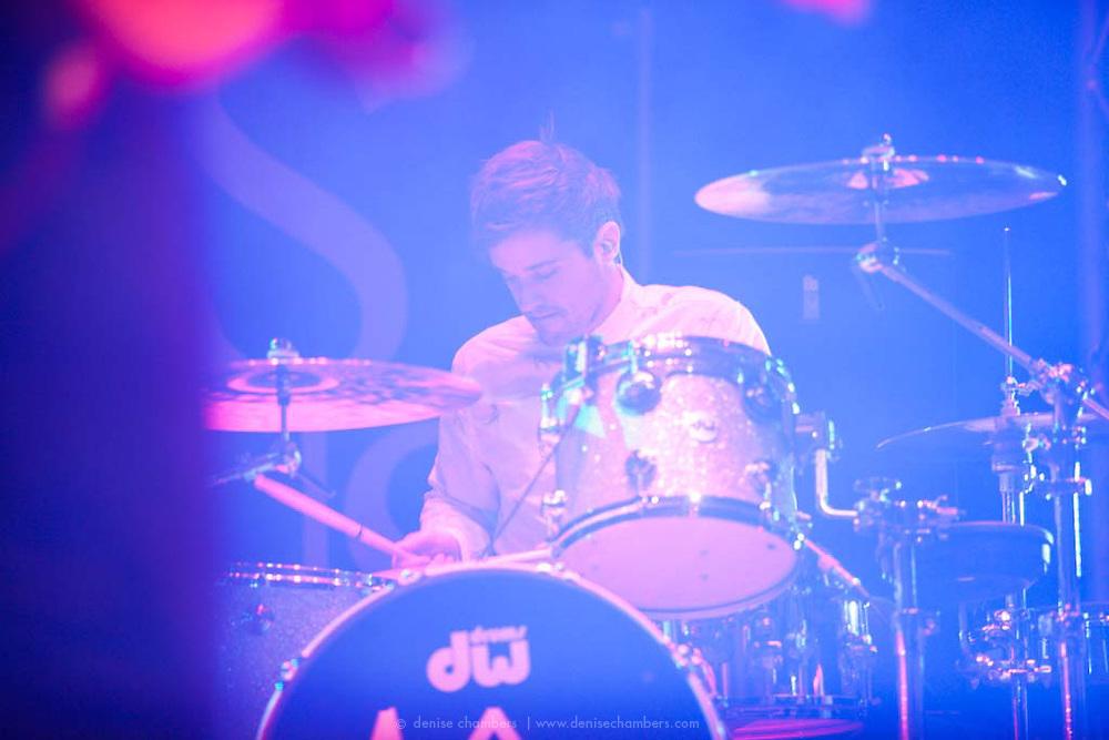Michael Jeffery of Atlas Genuis performs on 24 March, 2013 at the Pikes Peak Center in Colorado Springs, Colorado