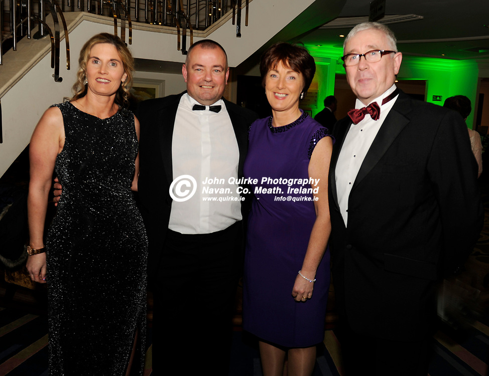 20-01-2017. Meath Chronicle / Cusack Hotel Group Sports Person of the Year Awards 2016 at the Knightsbrook Hotel, Trim.<br /> L to R: Elizabeth Mangan, Christy McElligott, Mary Murphy and Conall Collier.<br /> Photo: John Quirke / www.quirke.ie<br /> ©John Quirke Photography, Unit 17, Blackcastle Shopping Cte. Navan. Co. Meath. 046-9079044 / 087-2579454.