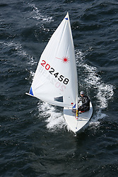 Day 4 NeilPryde Laser National Championships 2014 held at Largs Sailing Club, Scotland from the 10th-17th August.<br /> <br /> 202458, Hamish ECKSTEIN<br /> <br /> Image Credit Marc Turner
