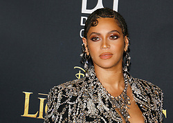 Beyonce at the World premiere of 'The Lion King' held at the Dolby Theatre in Hollywood, USA on July 9, 2019.