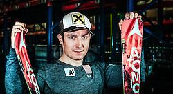 26.09.2013, Atomic Werk, Altenmarkt, AUT, Marcel Hirscher im Portrait, im Bild der österreichischer Skirennläufer Marcel Hirscher bei einem Fototermin // the Austrian alpine skier Marcel Hirscher at a photo shoot at the Atomic factory, Altenmarkt, Austria on 2013/09/26. ***** EXKLUSIVES BILDMATERIAL ****** . EXPA Pictures © 2013, PhotoCredit: EXPA/ Juergen Feichter