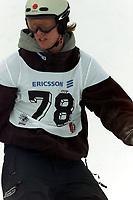 Snowboard, NM snøbrett halfpipe Geilo mars 2000. Jon Odden.