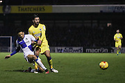 AFC Wimbledon defender George Francomb (7) in action during the EFL Sky Bet League 1 match between Bristol Rovers and AFC Wimbledon at the Memorial Stadium, Bristol, England on 31 December 2016. Photo by Stuart Butcher.