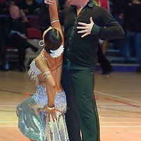 Mark Powell & Kim Parsons of Great Britain perform their dance during the Senior Latin-american competition of the International Championships held in Brentwood Centre, Brentwood, United Kingdom. Tuesday, 13. October 2009. ATTILA VOLGYI